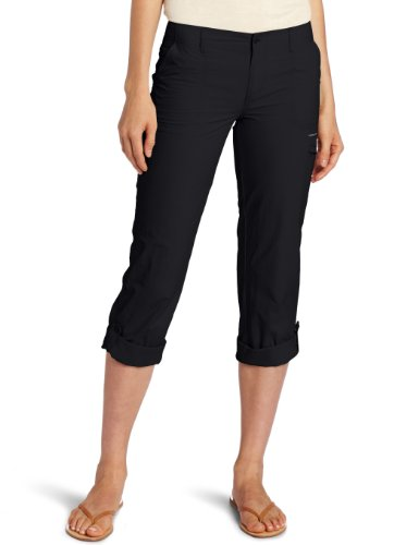 Columbia Women's Full Leg Roll-Up Aruba Pant, 8, Black