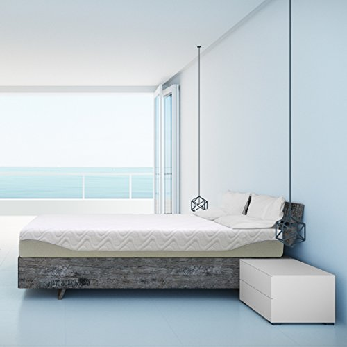 "Best Price Mattress 9"" Gel Infused Memory Foam Mattress, Queen, White"