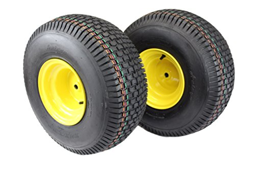 (Set of 2) 20x8.00-8 Tires & Wheels 4 Ply for Lawn & Garden Mower Turf Tires