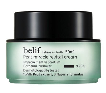 KOREAN COSMETICS, LG Household & Health Care belif, Peat Miracle revital Cream (50ml, intensive care cream, elasticity, nutrition, skin balancing)[001KR]