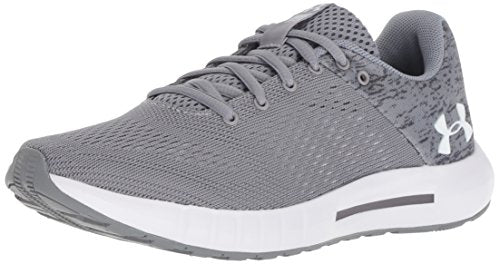 Under Armour Women's Micro G Pursuit  Running Shoe, Steel (101)/Graphite, 8