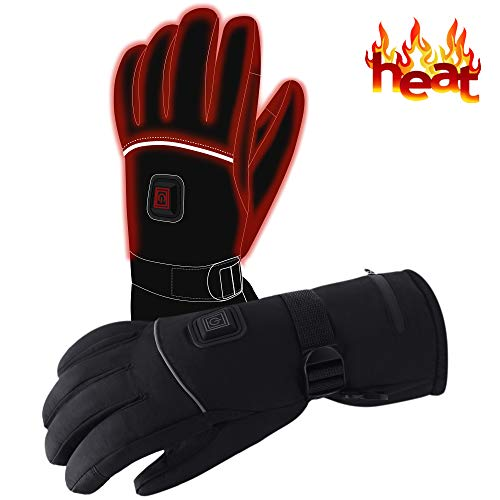 Mens Sports Heated Gloves Winter Novelty Apparel Battery Powered Heat Gloves Rechargeable Electric Heating Gloves,Exercise Fitness Accessories Outdoor Recreation Climbing Hiking Camping Handwarmer
