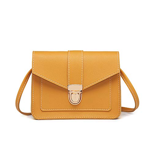 Clearance Sale! ZOMUSAR Designer Evening Clutch Bags Wristlet Purse Cross Body Bag with Adjustable Strap (Yellow)
