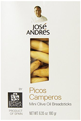 Jose Andres Foods Picos Camperos Mini Olive Oil Breadsticks, 6.35 Ounce