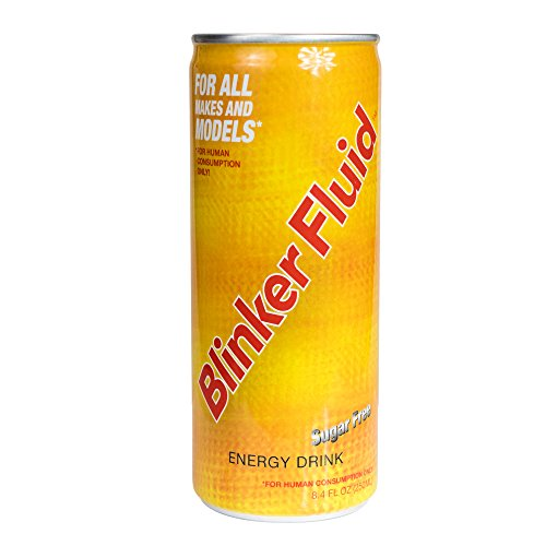 Blinker Fluid Sugar Free Energy Drink – Caffeine, Taurine, Vitamin B6, B12, Niacin – Sports Nutrition For Long Lasting Energy – (250 mL, 4 Pack)
