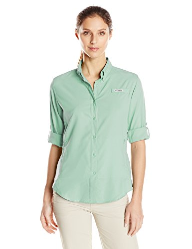 Columbia Women's Tamiami II Long Sleeve Shirt, Light Mint, Large