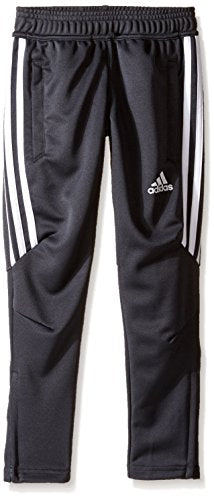 adidas Youth Soccer Tiro 17 Pants, X-Large - Dark Grey/White/White