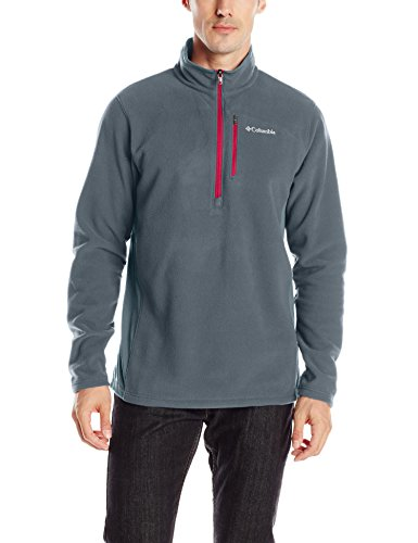 Columbia Men's Lost Peak Half Zip Fleece, Graphite/Mountain Red, Medium