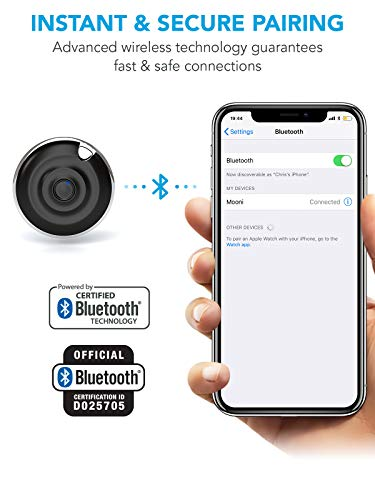 Premium HD Bluetooth Selfie Remote Control Camera Shutter For iPhone XR XS  10 X 8 7 6 5, Samsung Galaxy S9 S8 S7 S6 S5, Most Androids, iPads, iPods,