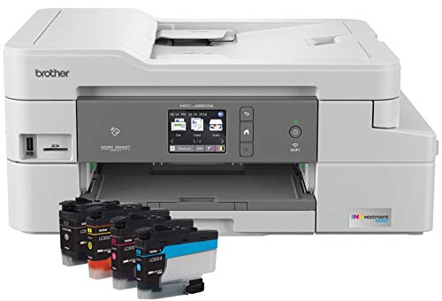 Brother Inkjet Printer, MFC-J995DW, Mobile Printing, Duplex Printing, Up to 1-Year of Printing Included, Amazon Dash Replenishment Enabled