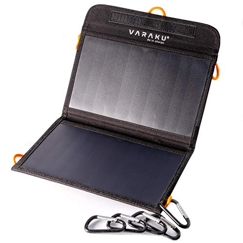 Portable Solar Charger 10W - Dual USB Solar Panel Foldable – Best Power for, iPhone, X, 8, 7, 6s, iPad, Cell Phone Android & Electronic Devices - Waterproof Sun Phone Charger for Camping & Hiking
