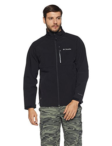 Columbia Men's Heat Mode II Softshell Jacket, Black, Large