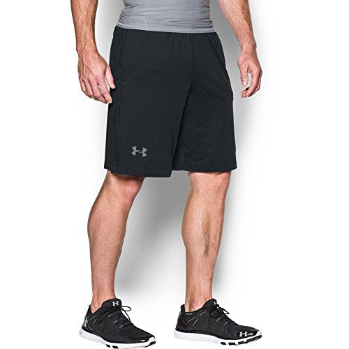 "Under Armour Men's Raid 10"" Shorts, Black /Graphite, Large Tall"