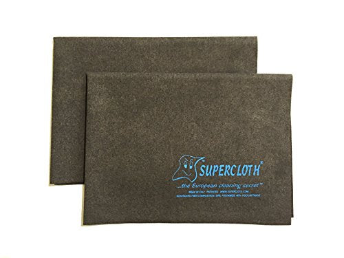 Supercloth - World Famous Household Cleaning Cloth and Dusting Cloth Made in Italy - Full Size, 2 Pack (5pk, 10pk Also Available)