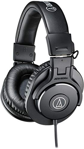 Audio-Technica ATH-M30x Professional Studio Monitor Headphones, Black