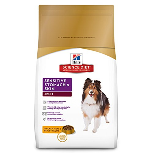 Hill'S Science Diet Adult Sensitive Stomach & Skin Dog Food, Chicken Meal & Barley Recipe Dry Dog Food, 30 Lb Bag