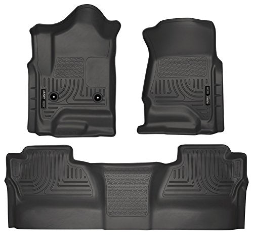 Husky Liners Front & 2nd Seat Floor Liners Fits 14-18 Silverado/Sierra Crew Cab