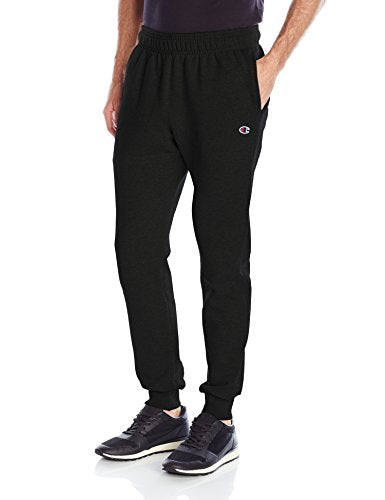 Champion Men's Powerblend Retro Fleece Jogger Pant, Black, Small