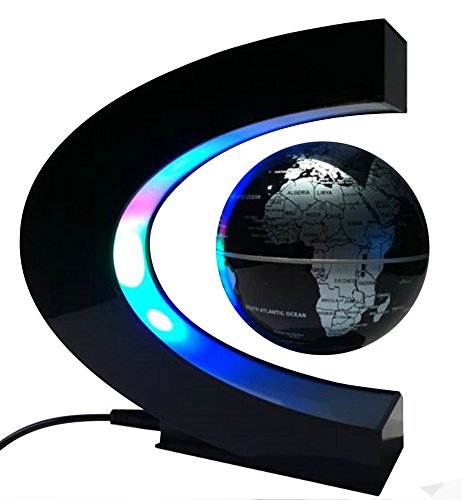 MOKOQI Magnetic Levitation Floating Globe Mysteriously Suspended in Air World Map Great for Fathers Students Teacher Birthday Gift