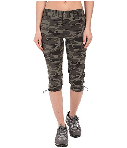 Columbia Women's Saturday Trail Printed Knee Pants, 16 x 18, Gravel Camo Print