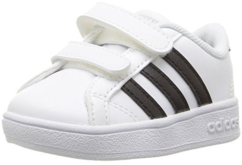 adidas NEO Boys' Baseline Sneaker, White/Black/White, 3 Medium US Infant