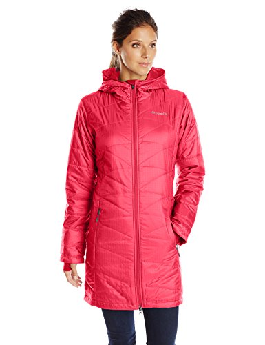 Columbia Women's Mighty Lite Hooded Jacket, Red Camellia, Small