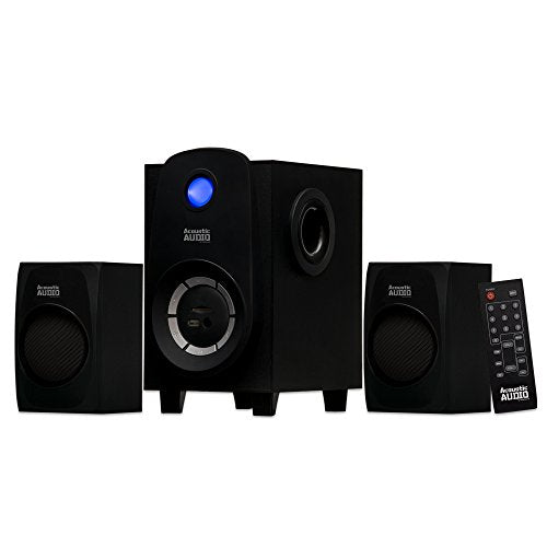 Acoustic Audio Bluetooth 2.1-Channel Home Theater Stereo System Black (AA2107)
