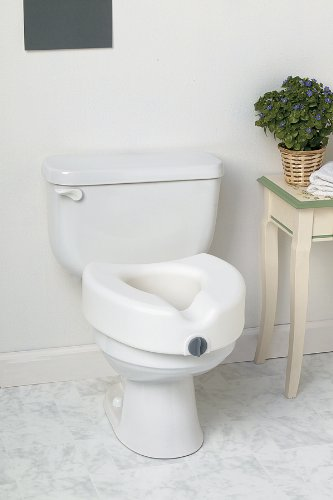 Medline Locking Elevated Toilet Seat without Arms