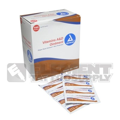 144 Pack A&D Ointment Element Tattoo After Care Medical Supply