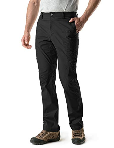 CQR CQ-TXP401-BLK_32W/30L Men's Outdoor Adventure Rugged Pants Hiking Camping Stretch Durable UPF 50+ Quick Dry Cargo Trousers TXP401