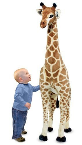 "Melissa & Doug Giant Giraffe, Playspaces & Room Decor, Lifelike Stuffed Animal, Soft Fabric, Over 4 Feet Tall, 57.5"" H x 21.2"" W x 10.5"" L"