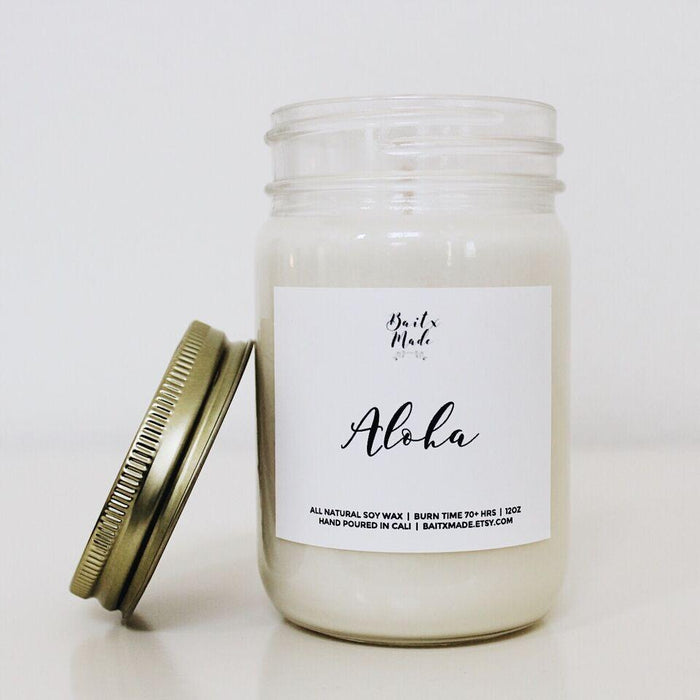 Baitx Made - Aloha Candle, 12 oz