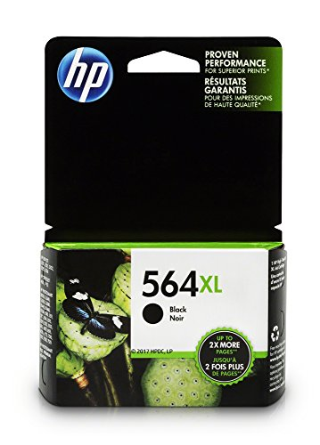 HP 564XL Black Ink Cartridge (CN684WN) for HP Deskjet 3520 3521 3522 3526 HP Officejet 4610 4620 4622 HP Photosmart: 5510 5512 5514 5515 5520 5525 6510 6512 6515 6520 6525 7510 7515 7520 7525 B8550 C6340 C6350 D7560 C510 B209 B210 C309 C310 C410 C510 (Pac