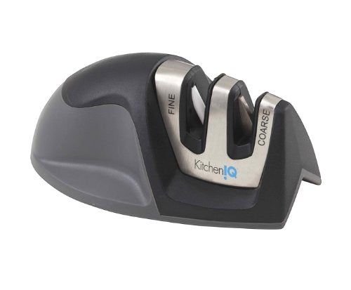 KitchenIQ 0009 50009 Edge Grip 2 Stage Knife Sharpener, Black, Manual