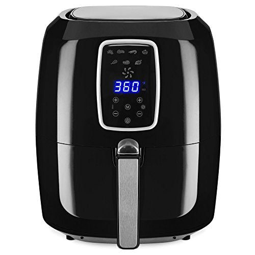 Best Choice Products 5.5qt 7-in-1 Electric Digital Non-Stick Air Fryer Kitchen Appliance w/LCD Screen, Timer - Black