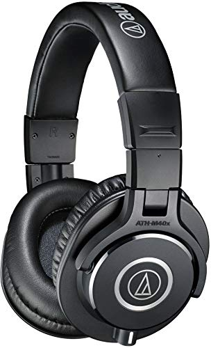 Audio-Technica ATH-M40x Professional Studio Monitor Headphone, Black