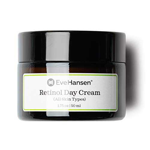 Retinol Day Cream by Eve Hansen - Look Youthful With Natural Retinol Moisturizer's Anti Aging Properties. Promotes Skin Tightening And Rejuvenation. Vitamin A Cream For Fine Lines and Wrinkles.