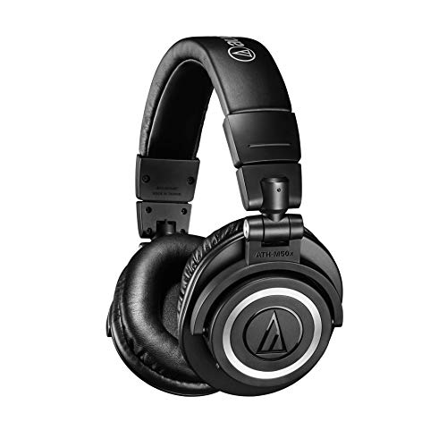 Audio-Technica ATH-M50xBT Wireless Bluetooth Over-Ear Headphones, Black