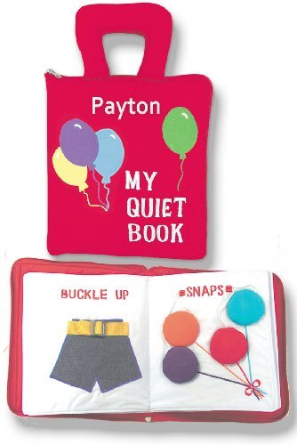 My Quiet Book, Fabric Activity Book for Children By Pockets of Learning- Personalized