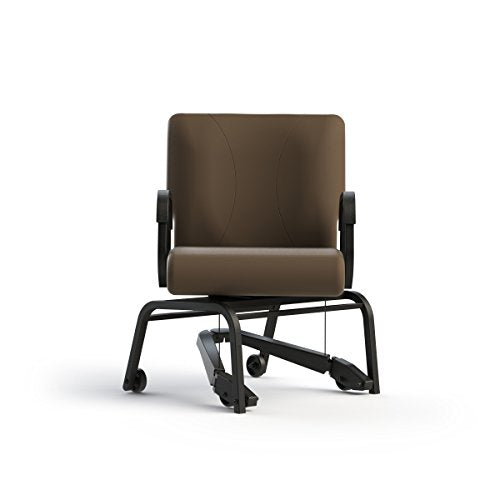 Kitchen/dining chair w/swivel & mobility assist lever, rated 250 lbs. (- it swivels and rolls)