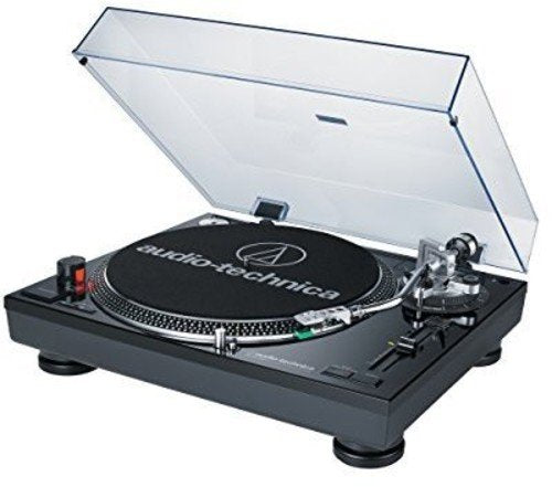 Audio-Technica AT-LP120BK-USB Direct-Drive Professional Turntable (USB & Analog), Black