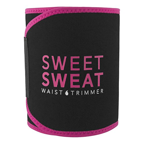 Sweet Sweat Waist Trimmer (Pink Logo) for Men & Women. Includes Free Sample of Sweet Sweat Gel! (X-Large)