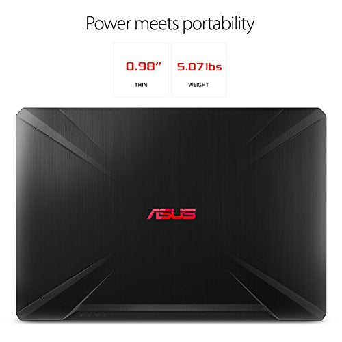 "ASUS TUF Gaming Laptop FX504 15.6"" Full HD, 8th-Gen Intel Core i5-8300H (Up to 3.9GHz) Processor, GeForce GTX 1050 Ti, 8GB DDR4, 256GB M.2 SSD, Gigabit WiFi, Windows 10 Home - FX504GE-AH53"