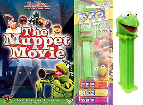 Frog Head Being Green the Original Muppets 50 Years Feature Movie DVD + Pez Dispenser Collectible Entertainment pack sensational Friends