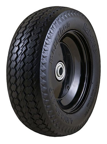 Marathon Universal Fit, Flat Free, Hand Truck / All Purpose Utility Tire on Wheel with Adapter Kit
