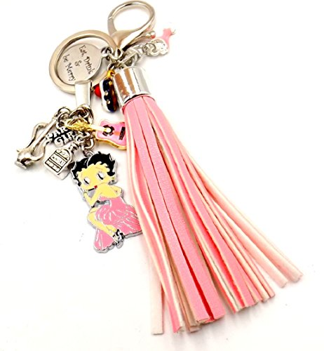"""Eat Drink and Be Merry"" Betty Boop Keychain Purse Charm Car Pocketbook Accessory ""Girly Girl"" Collection"