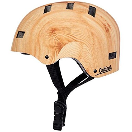 "Critical Cycles Classic Commuter Bike/Skate/Multi-Sport CM-1 Helmet with 10 Vents, Bamboo, Medium: 55-59 cm / 21.75""-23.25"""