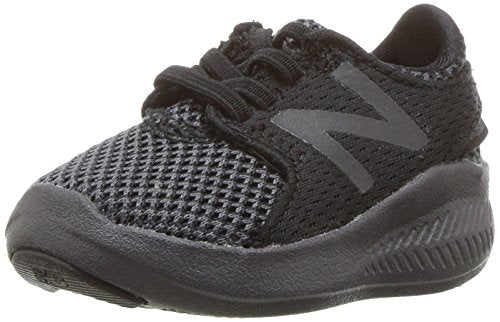 New Balance Boys' Coast V3 FuelCore Running Shoe, Black/Magnet, 3 W US Infant