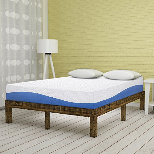 Olee Sleep 10 Inch Gel Infused Layer Top Memory Foam Mattress Blue, Full