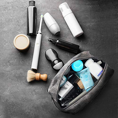 042c8e522b78 Leather Toiletry Bag for Men - Dopp Kit for Mens Toiletries by LVLY - Travel  Bags